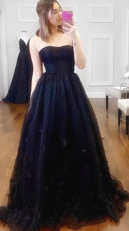 Navy Blue Long Prom Dress,Prom Dress A Line ,Prom Dress Plus Size ...